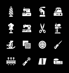 Set icons of sewing vector