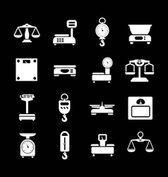 Set icons of weights and scales vector image