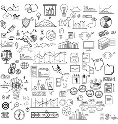 set web icons for business finance and vector image