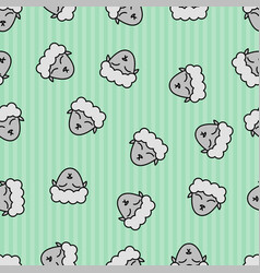 Sheep seamless pattern background textile for vector