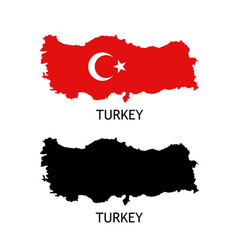 Silhouette turkey on white color vector