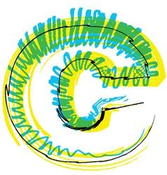 Sketch font letter c vector