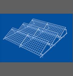 Solar panel concept vector