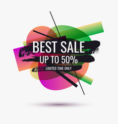 splash ink banner best sale original poster for vector image