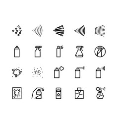 spray line icons can with cleaning aerosol vector image