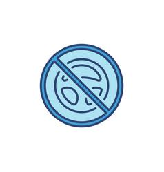 Steering wheel forbidden sign concept blue vector
