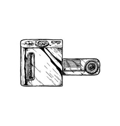swivel lens camera vector image