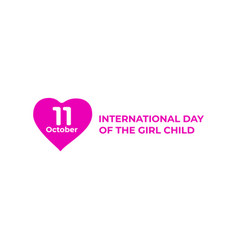 Symbol of international day of the girl child vector
