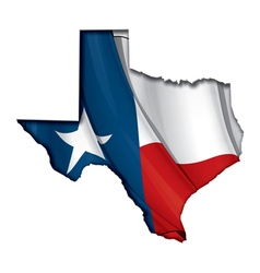 Texas Map Flag vector