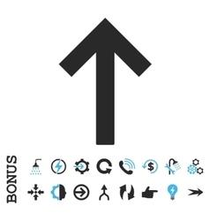 Up Arrow Flat Icon With Bonus vector image