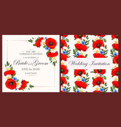 vintage card with meadow flowers vector image