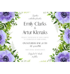 Wedding floral invitation card design vector