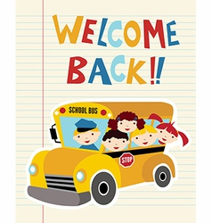Welcome Back to School bus vector