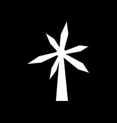Wind turbine icon design vector
