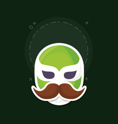 Wrestler mask icon vector
