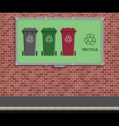 billboard recycle vector image