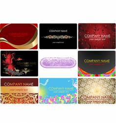 glamor fashion business cards vector image vector image