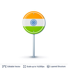 India flag isolated on white vector