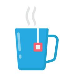 mug of tea flat icon business and breakfast vector image