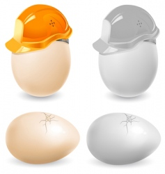 safety eggs vector image vector image