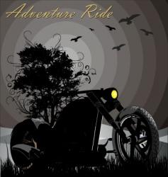 adventure ride vector image vector image