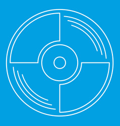 blank vinyl record icon outline style vector image