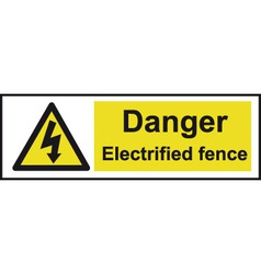 Danger Electrified Fence Safety Sign vector image