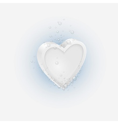 Effervescent tablet in shaped Heart vector image