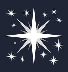 white flat star minimalist symbol vector image vector image