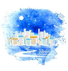 Winter urban background vector image