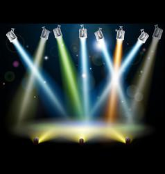 dance floor or stage lights vector image vector image