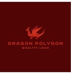 Polygon dragon origami logo professional vector image