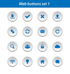 Web buttons set 1 vector image vector image
