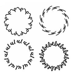 Wreath circle pattern vector image