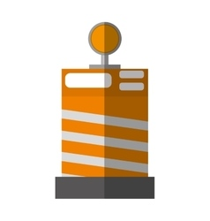 Cartoon barrier block construction light alert vector