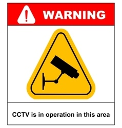 CCTV in Operation sign - format vector image