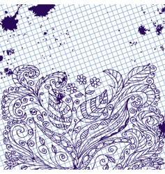 ink abstract floral pattern vector image