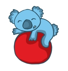 Koala playing big ball cartoon vector image vector image