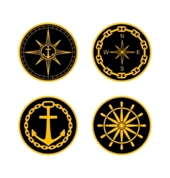 Naval Badges vector image