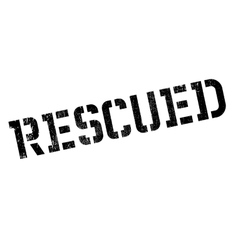 Rescued rubber stamp vector image vector image