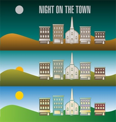 Town infographic 51 vector image vector image