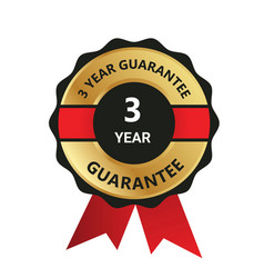 3 year guarantee badge guarantee certificate y vector