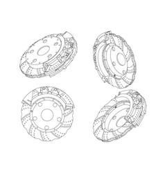 3d model of the brake disc vector