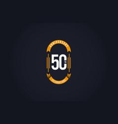 50 th anniversary celebration logo template design vector