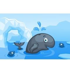 A whale on an arctic vector