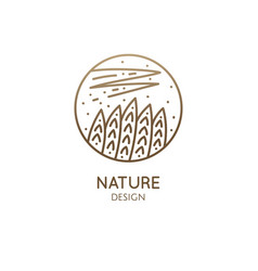 abstract sacred symbol nature logo vector image