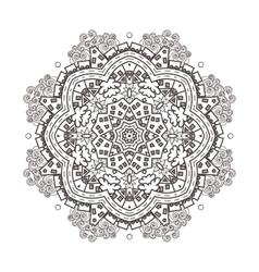 abstraction bacircular mandala vector image
