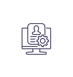 Account settings line icon vector