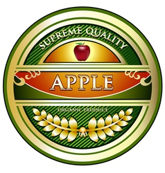 Apple Vintage Label vector image