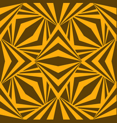 art abstract geometric african yellow brown vector image